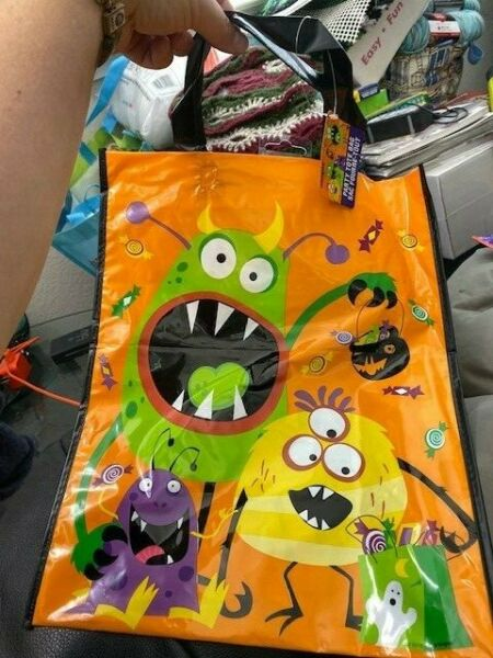 Unique Halloween Silly Monsters Bag Goodie Large Plastic New $3.00