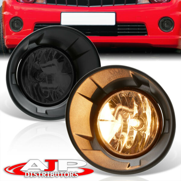 Chrome Driving Bumper Fog Lights Lamps +Wiring Switch For 2010-2013 Chevy Camaro