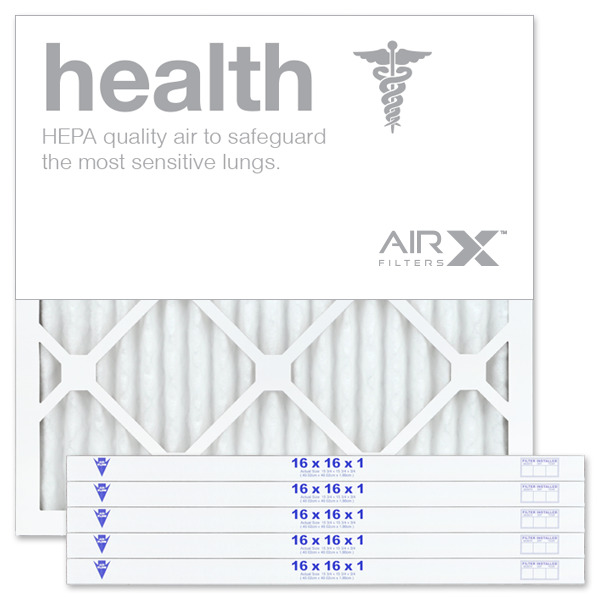AIRx Filters Health 16x16x1 Air Filter Replacement Pleated MERV 13 6-Pk