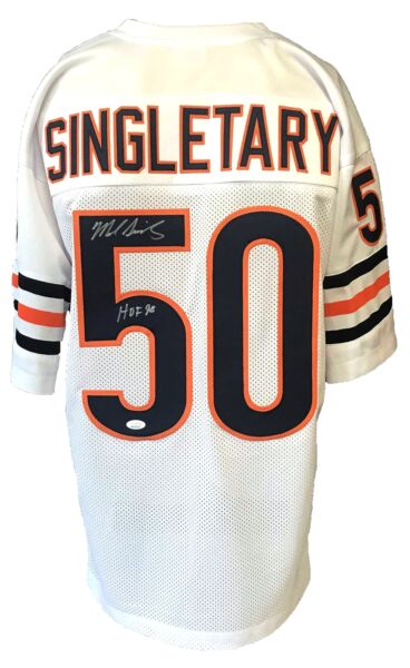 Mike Singletary Autographed Pro Style White Jersey