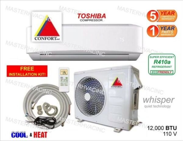 18000 BTU Ductless Air Conditioner Heat Pump Mini Split 220V 1.5 Ton With KIT $669.00