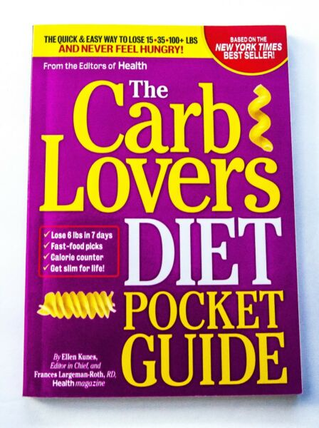 NEW THE CARB LOVERS DIET POCKET GUIDE Paperback Purse Size Kunes amp; Roth $7.98
