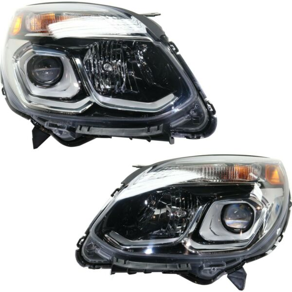 Headlight For 2016 2017 Chevrolet Equinox Driver and Passenger Side