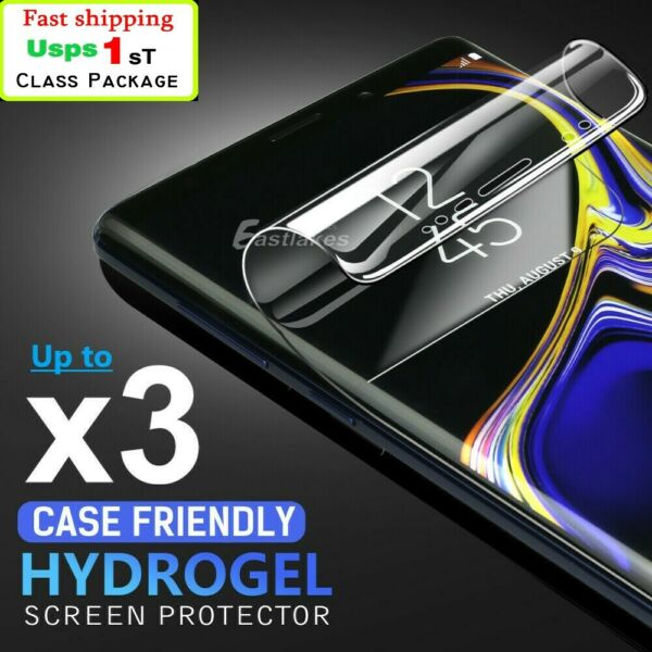 HYDROGEL Screen Protector Samsung Galaxy S10 5G S9 S8 Plus Note 10 9 8 S7 Edge