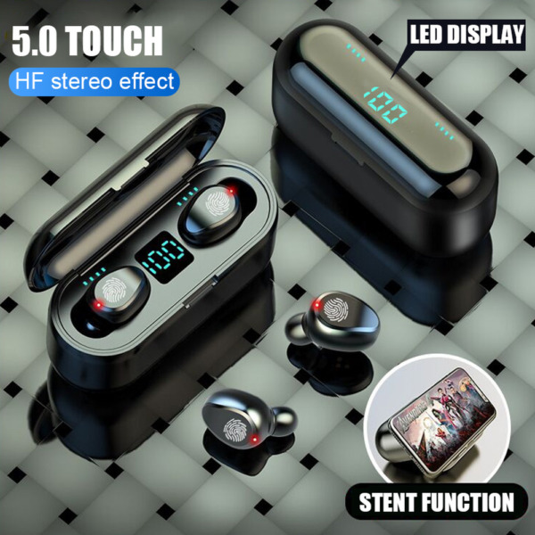 F9 TWS Bluetooth 5.0 Earphones Wireless Headphones Earbuds For iPhone Android LG