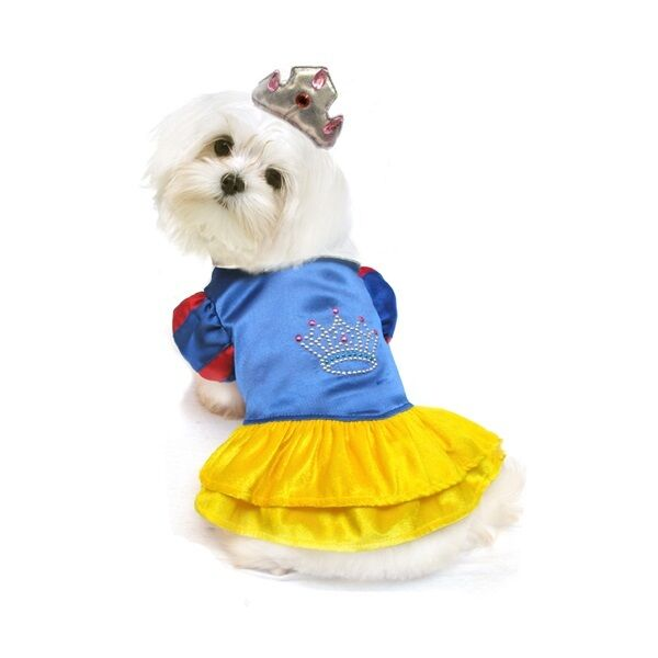 High Quality Dog Costume SNOW PRINCESS COSTUMES Dogs as Pretty Princesses $34.89