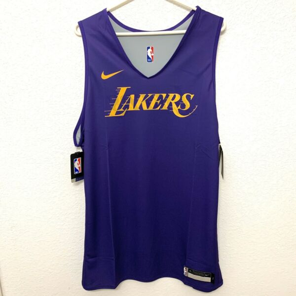 Nike Los Angeles Lakers Player Issued Reversible Practice Jersey NBA Size 3XL