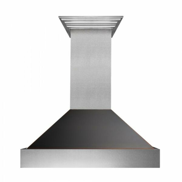ZLINE 36quot; NEW SNOW STAINLESS STEEL OIL RUBBED BRONZE WALL RANGE HOOD 8654ORB 36