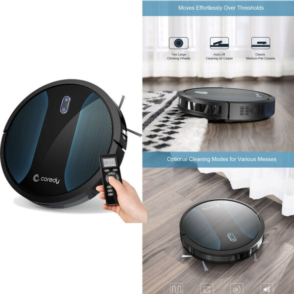 Automatic 1400Pa Super-Strong Suction Ultra Slim For Coredy Robot Vacuum Cleaner