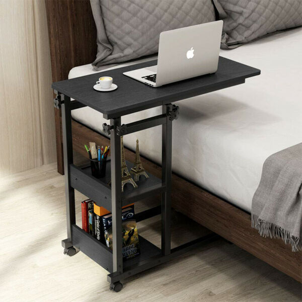 Adjustable 3-Shelf Wood Bookcase Storage Closed Back Shelve Bookshelf Furniture