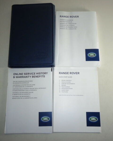 Document Kit + Manual Owner's Manual + Wallet Range Rover Stand 2014