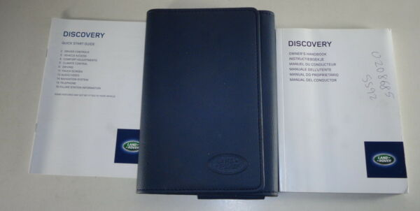 Document Kit + Manual Owner's Manual + Wallet Land Rover Discovery Stand 2013