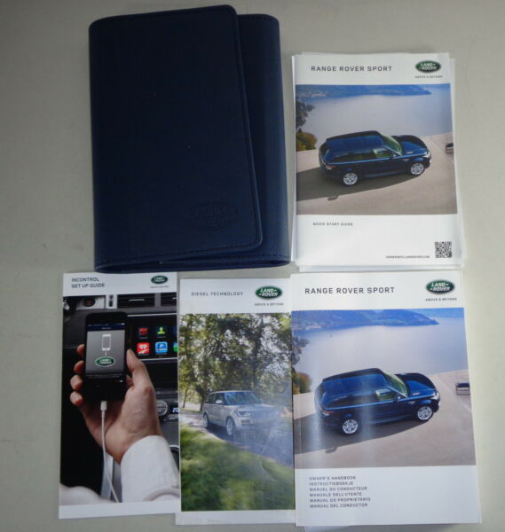 Document Kit + Manual Owner's Manual + Wallet Range Rover Sport Stand 2016