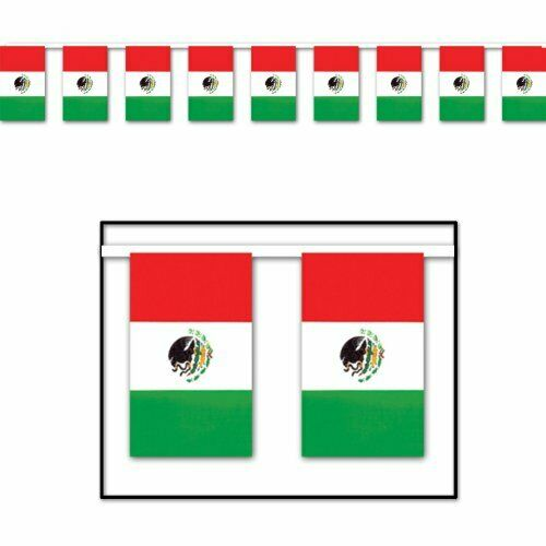 The Beistle Company Mexican Flag Pennant Banner ( Pack of 12) Christmas product