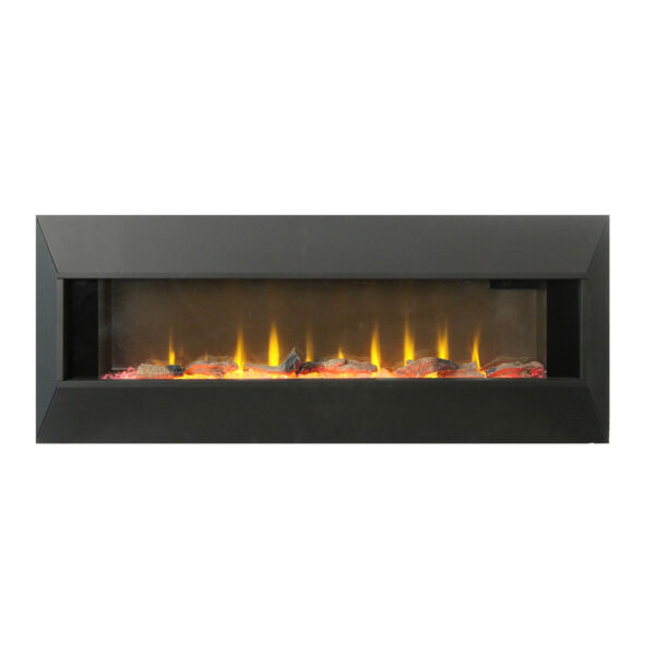 Lifesmart HW93233SMQR 42 Inch Infrared Wall Mount Electric Fireplace Black