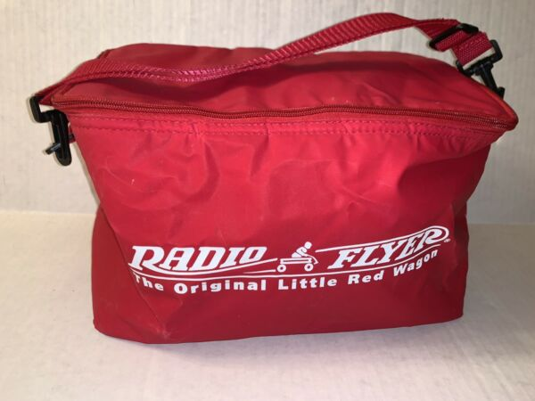 """THE ORIGINAL RADIO RED FLYER Insulated Lunch Pail Cooler 2006 Red Wagon 13""""x7"""""""