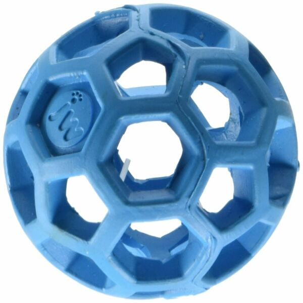 (3 Pack) JW Holee Roller Tough Natural Rubber Durable Dog Tug Treat Ball Mini