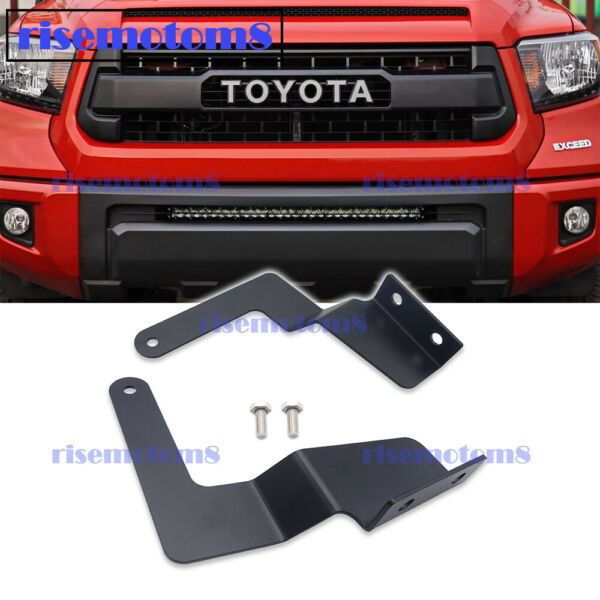 Bumper Grille LED Straight Light Bar Mounting Brackets for Toyota Tundra 2007