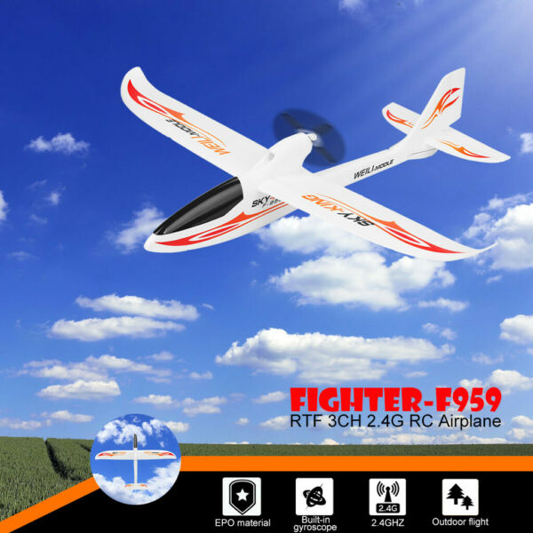 WLtoys F959 Sky-king 2.4G 3CH RC RTF Airplane Aircraft Fixed Wing Plane White