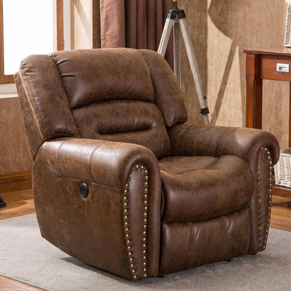 Oversize Electric Lift Recliner Chair Heavy Duty Upgraded Motor Overstuffed Sofa
