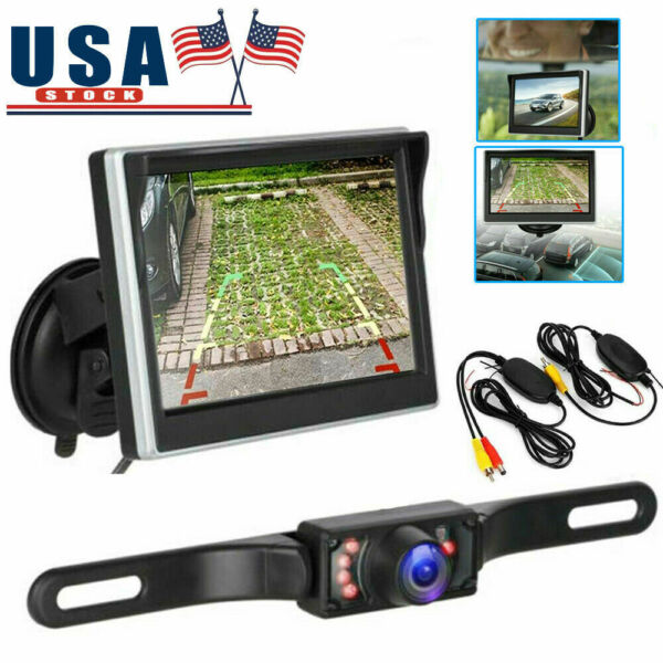 Wireless Car Backup Camera Rear View System With Night Visionamp; 5quot; LCD Monitor US