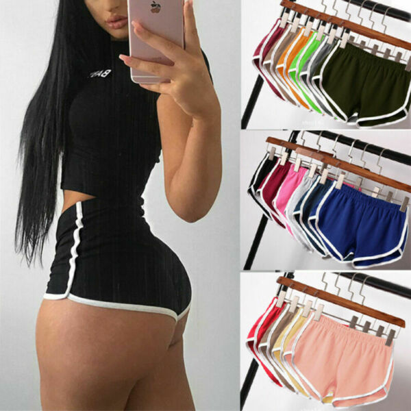Women Sports Shorts Yoga Casual Running Gym Jogging Lounge Summer Hot Pants $12.63
