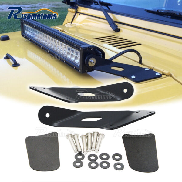 Fit Jeep Wrangler TJ 97 06 Over Hood Ditch 22quot; LED Light Bar Mounting Brackets