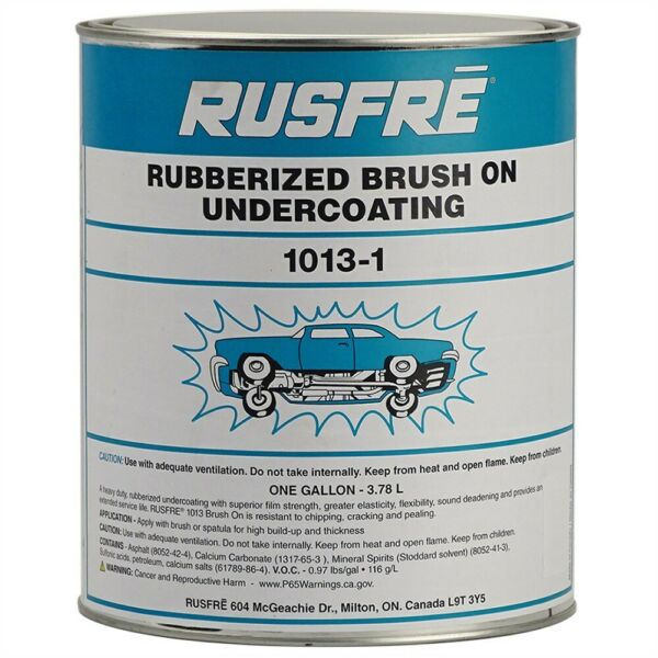 RUSFRE Black Rubberized Brush-On Undercoating Gallon #MD-1013
