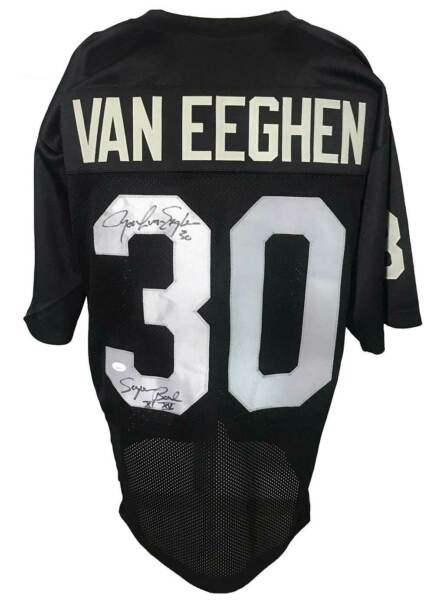 Mark Van Eeghan Autographed Pro Style Jersey JSA Authenticated