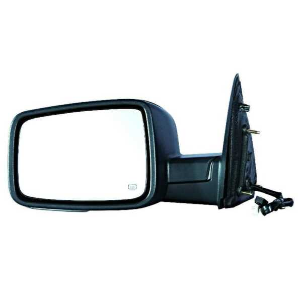 Power Heated Signal Puddle Driver Left Side Mirror for 2009-2010 Dodge Ram 1500