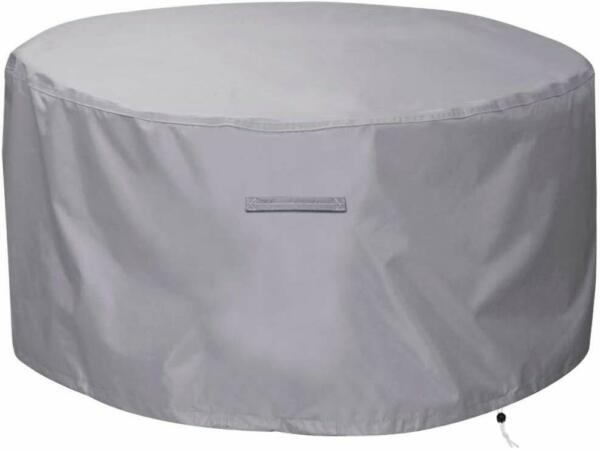 """Gas Fire Pit CoverTable Cover Round 300D Heavy Duty Fabric 36"""" Dia X 24""""H"""