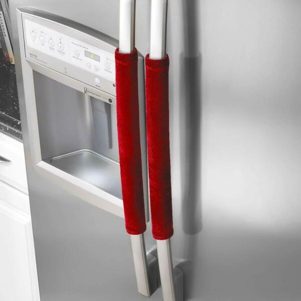Refrigerator Door Handle Covers Kitchen Appliance Clean From Smudges Fingertips