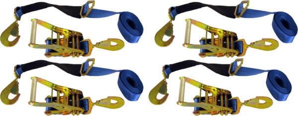 4 Axle Straps Car Carrier Tie Down Straps with Ratchets Tow Straps $49.99