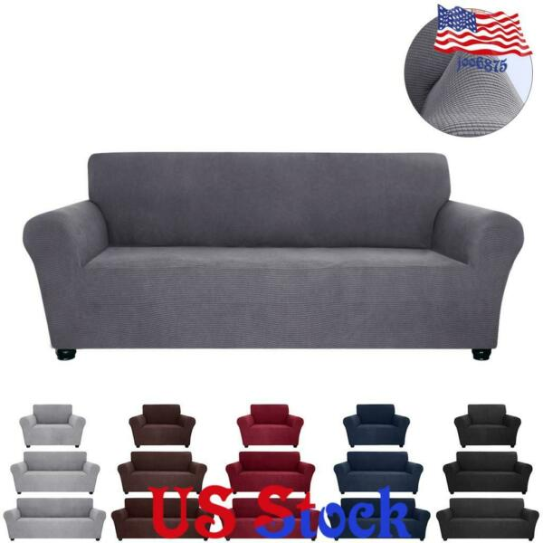 Solid Spandex Stretch Slipcover Sofa Couch Cover Furniture Protector Home Decor $29.99