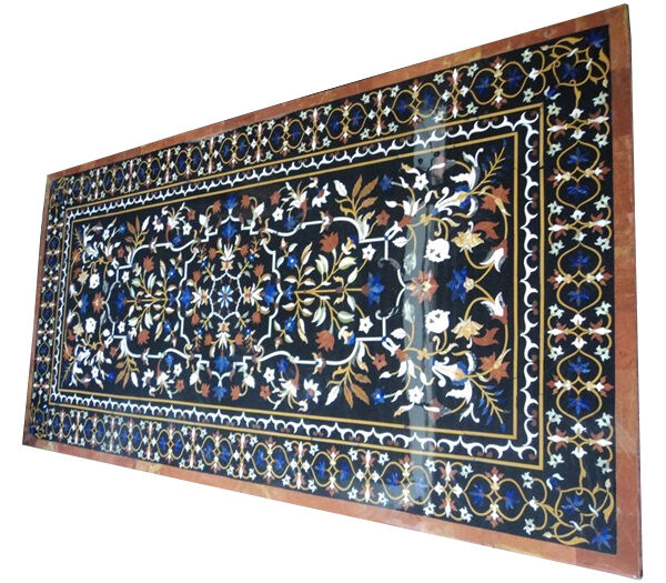 6#x27;x4#x27; Marble Dining Side Table Top Rare Inlay Marquetry Floral Decorative Art $5551.13