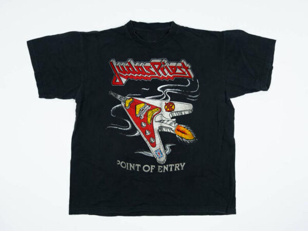 NEW!! Vintage Never Worn Judas Priest Point Of Entry 1981 tour Concert Shirt