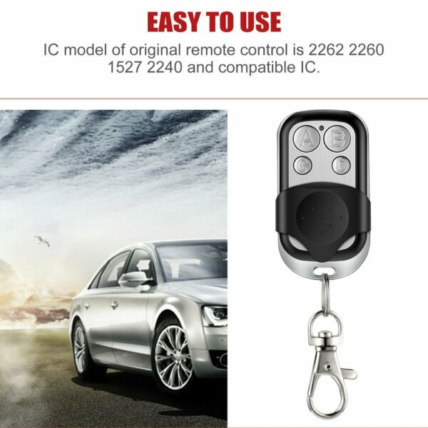 NEW 4-Channel Wireless Remote Control Duplicator for Cars Garage Doors Gate -US