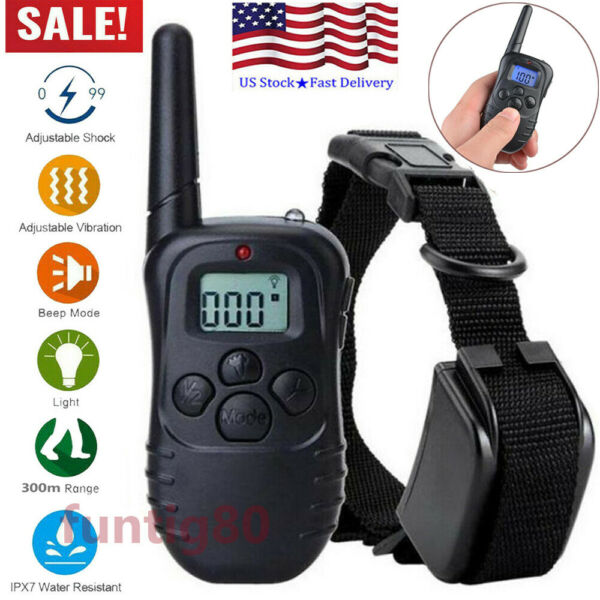 Dog Shock Collar With Remote Waterproof Electric for Large Small Pet Training US $13.98
