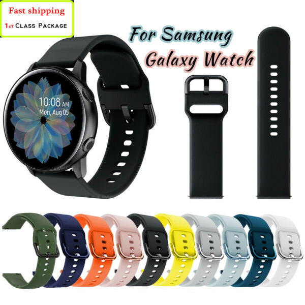 Samsung Galaxy Watch Active 2 404244mm Gear S2 Silicone Sport Band Tpu cover