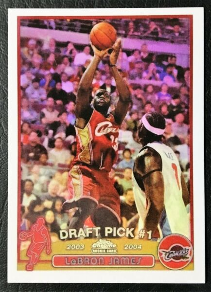 2003-04 Topps Chrome #111 Lebron James Rookie Reprint - NMMint - Cleveland