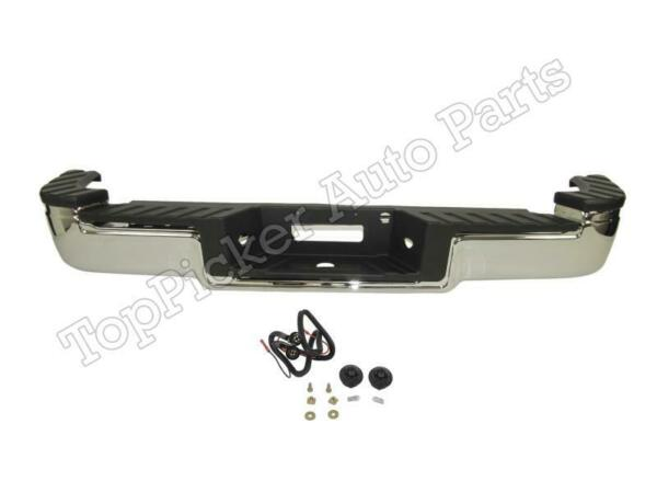 REAR STEP BUMPER CHROME ASSY FOR 2004 2009 F150 FLARESIDE HITCH STYLE FO1103121 $549.63