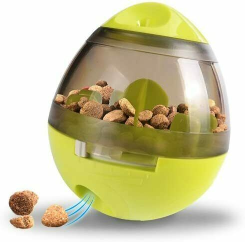 Durable Automatic Feeder Interactive Food Dispensing Pet Dog Toy Chew Toys