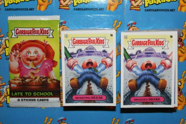 2020 GARBAGE PAIL KIDS LATE TO SCHOOL 200 CARD COMPLETE SET WITH WRAPPER GPK