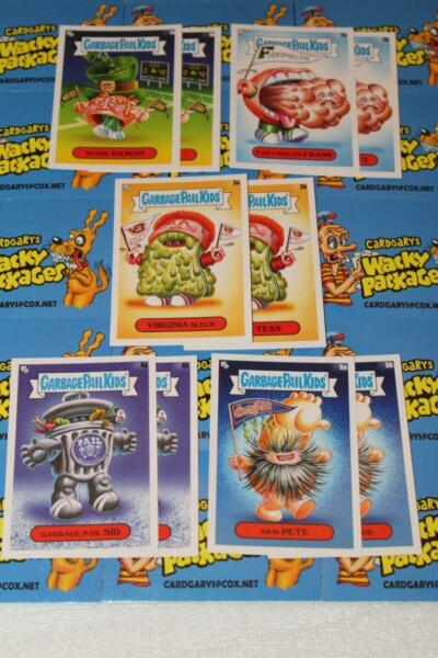 2020 GARBAGE PAIL KIDS LATE TO SCHOOL 10-CARD GPK MASCOTS SET From Display Box