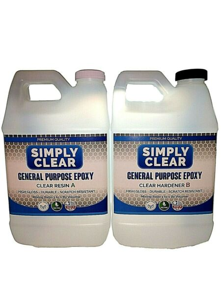 Crystal Clear BarTable Top Epoxy Resin Coating For Wood or Crafts -1 Gallon Kit