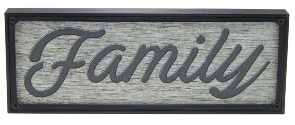 Family Rustic Farmhouse Kitchen Standing Sign or Wall Hanging Home Decor Print