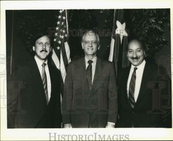 1990 Press Photo Federal Bar Association lunch honoring William Sessions Texas
