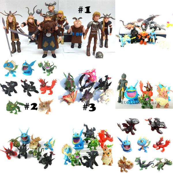 How to Train Your Dragon Toothless Night Fury Action Figures Toy Cake Topper Set $13.99