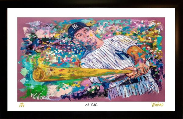SALE 50% OFF MICKEY MANTLE  L.E. 112199 ART PRINT SIGNED BY ARTIST WINFORD
