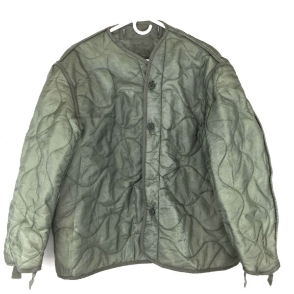 Military Coat Liner M65 Quilted Foliage Green Cold Weather Field Jacket Liner